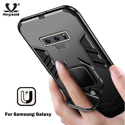 Shockproof Ring Stand Magnet Armor Case Cover For Samsung Galaxy S10 Plus Note 9