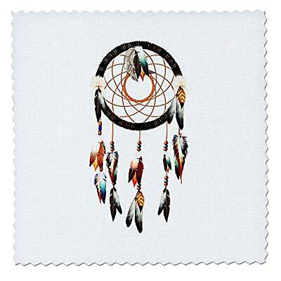 Native American Inspired Dream Catcher Design, Colorful Feathers and Beads. - Qu