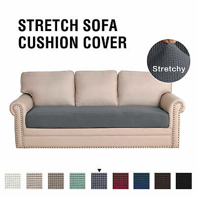 Stretch Sofa Seat Cushion Cover Easy Fit Non Slip Soft Thick 1/2/3 Seat Cover