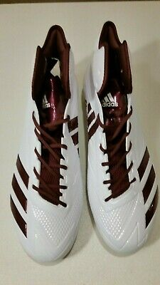 wholesale dealer 4ca1e 184ce Adidas Adizero 5 Star 6.0 Mid Football Cleats BW1088 White Maroon New Size  15