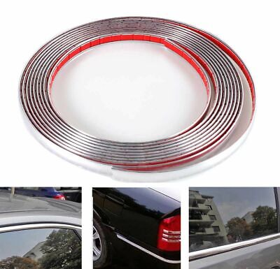 ABS Car Bumper Strip Adhesive Auto Bright Chrome Plated Moulding Trim 12mm/16ft