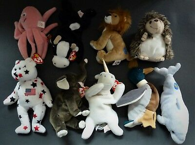 Ty Beanie Babies Retired Originals - Lot Of 9
