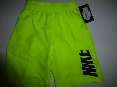 3ebd6a8ef6 NIKE Boys 8 Logo Volley Swim Shorts Trunks with Pockets Yellow Volt New  Small