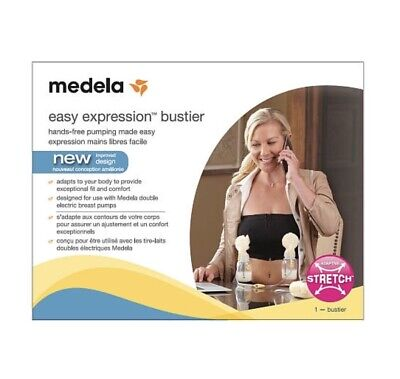 Brand New! Medela Easy Expression Bustier for Hands-free Pumping Black (Medium/M