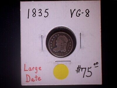 1835 HD, Half Dime, Large Date, Bust Type, 20% OFF SALE