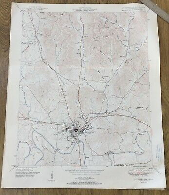 Vintage1951 Tennessee Map~Fayetteville~TN USGS Topo Map