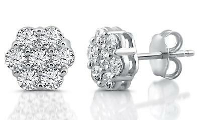1 CTTW Diamond Composite Stud Earrings In Sterling SIlver by DeCarat