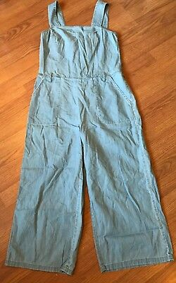 d8fe67971fa2 Two By Vince Camuto Jumpsuit Crop Culotte Wide Light Wash Denim Size S Small