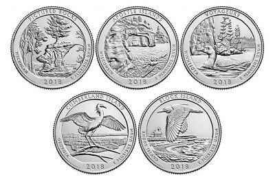 2018 America the Beautiful National Parks Quarters - Set of 15 (P, D & S)