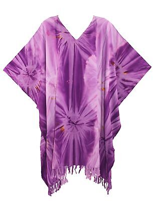Women BOHO HIPPIE Tie Dye Plus Size Tunic Blouse Kaftan Top 1X 2X 3X 4X 22 24