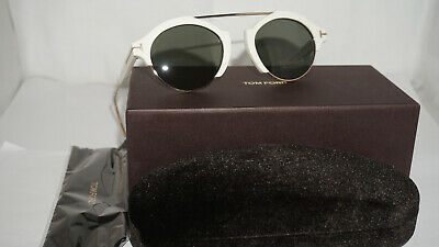 9164af89ca2 AUTHENTIC TOM FORD Farrah-02 FT0631 - 25N Sunglasses Ivory   Green ...