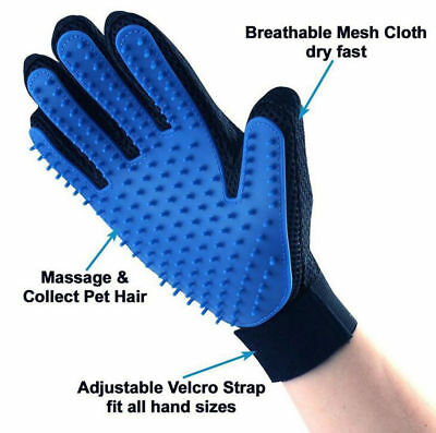 True Touch Deshedding Glove Amazing Glove Tool Pet Grooming for Remove Cat Dog
