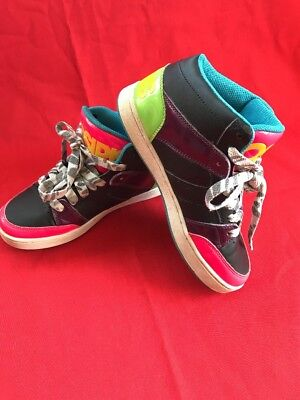 c014f5f642 Osiris Skate Shoes 5 Convoy Mid Neon Pink Blue Green Yellow Multi-color - we
