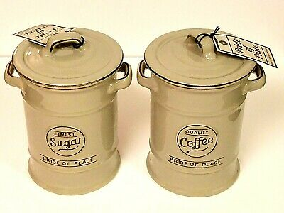 TG Pride of Place  SUGAR&COFFEE  Storage Jar Canister in COOL GRAY Set