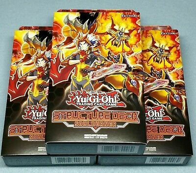 3x Yugioh Soulburner Structure Deck (w/ Ash Blossom & Joyous Spring) BRAND NEW