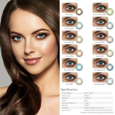 1 Pair Contact Lenses Eyewear Eye Beauty Makeup Annual Soft Cosmetic Multicolor