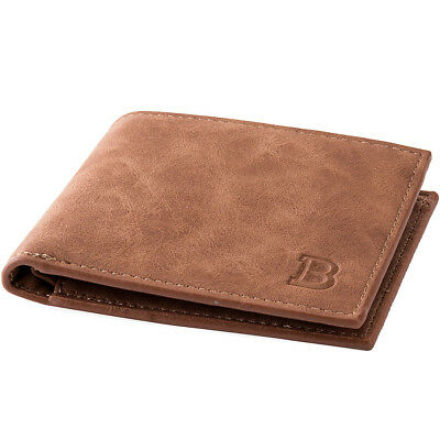Men's Leather Wallet Credit Card Holder Clutch Bifold Money Purse Coin Pockets