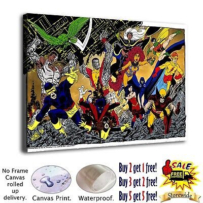 Dc heroes Poster HD Canvas print Painting Home Decor Room Picture Wall art 25648