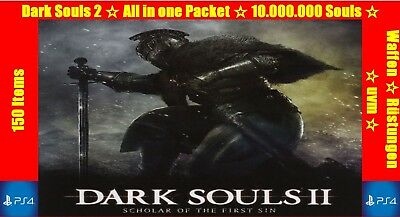 Dark Souls 2  Equip Package ☆ over 150 max level Weapons Shields Armour ☆ PS4 ☆