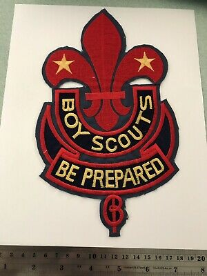 BOY SCOUTS USA BE PREPARED  Back patch badge