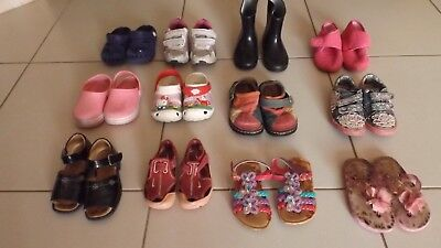 Bulk lot girls shoes suit age 3½/4 to 4½ including Clarks Nike Lelli Kelly