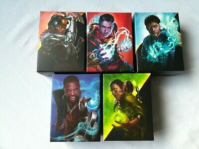 Magic The Gathering Lot Of 5 Starter Decks & Deck Boxes New & Sealed