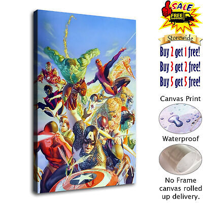 Marvel Comics HD Canvas print Painting Home Decor Room Picture Wall art 125694