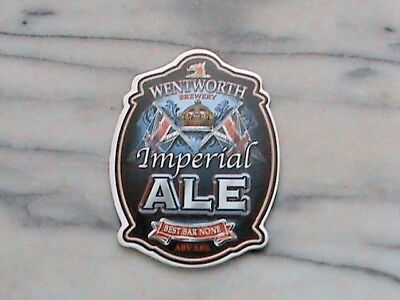 Wentworth Imperial Ale real ale beer pump clip sign