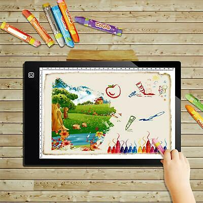 A4 Ultra Thin Light Box A4 LED Copy Board Drawing Pad Tracing Table USB Cable wi