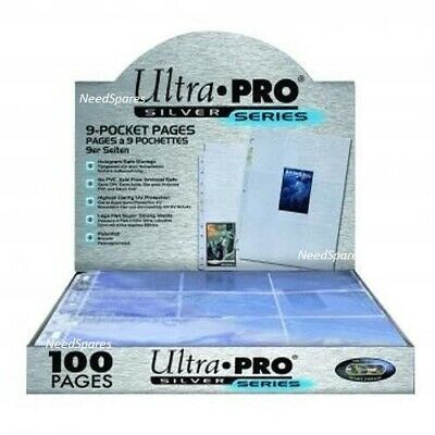Ultra PRO Silver 9-Pocket Pages for Ring Binder Trading Card Album Sleeves A4