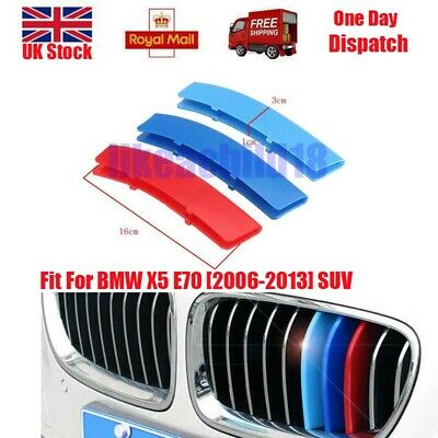3 Colour For BMW X5 E70 2006-2013 Kidney Grille Gill M Sport Cover Stripe Clips
