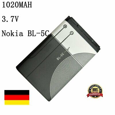 1020mAh 3.7V 3.8wh Li-ion Battery akku Backup Lithium for Nokia BL-5C RecharB2