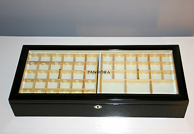 authentic genuine Pandora collectors rare display case wooden jewellery box new
