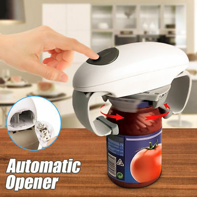 Automatic Grip Hands Free Electric Jar Opener Easy Touch Button Kitchen Tools