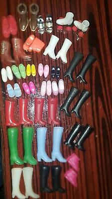 Barbie clothes lot large shoes, boots, slippers, roller skates etc.