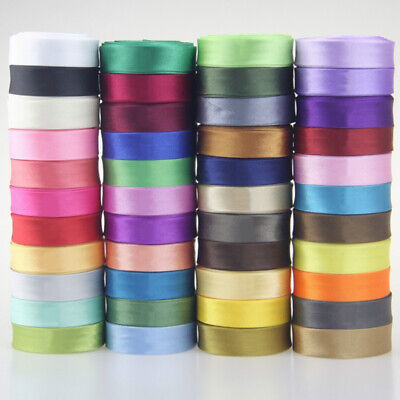 Satin Bias Binding Tape 15mm Wide 5/8 Inch 45 Colours Trim/Edging/Quilting