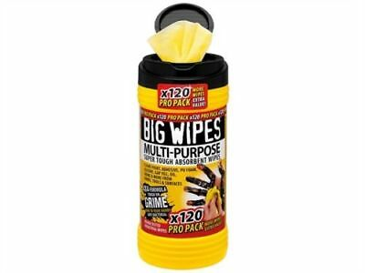 Big Wipes Multi-Purpose Cleaning Wipes - Giant Tub of 120 - Black Top *Bargain*