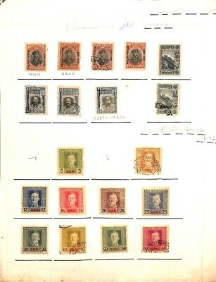 [OP8539] Romania lot of stamps on 12 pages - see photos on description