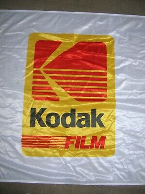 Kodak Advertising Flag Excellent Condition Very Large ,photography Interest