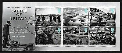 GB Stamps 2015 'Battle of Britain' MS3735 - Fine used