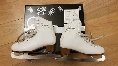 Boxed SFR Galaxy Junior White Figure Ice Skates - UK 3 / EUR 35.5 great cond