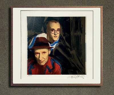 Portrait of Keith Haring and William Burroughsby by Warhol's printer Jason Smith