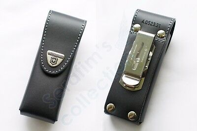 Victorinox Black Leather Pouch 4.0523.31 for 111mm 2-4 layers Folding Knife