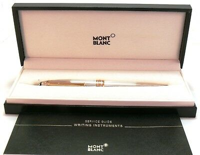 Mont Blanc Solitaire Rollerball Pen Sterling Silver 11746 Le Grand NEW #32697