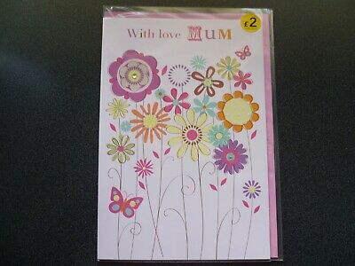 Mothers Day Cards Job Lot Of 7 Large Cards With Love Mum