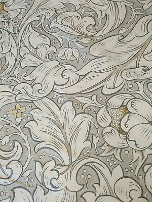 Pure bachelor button William Morris Curtain Fabric cushions  craft 100% Linen