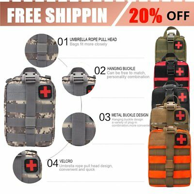Outdoor Travel First Aid Kit Tactical Waist Pack Camping Bag Emergency Case O492