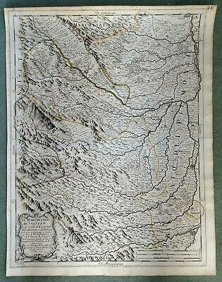 Italy Swiss Dated 1690 De Rossi-Cantelli Da Vignola Large Antique Engraved Map