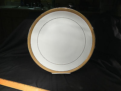 "REGENT BREAD & BUTTER PLATE by MIKASA  6 1/2"" SET OF 2 Gold Encrusted Geometric"