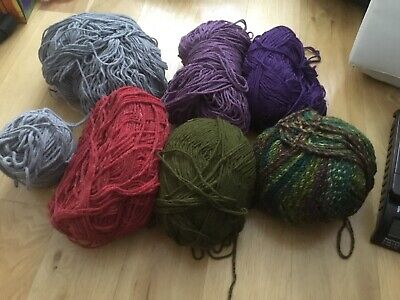 Job lot large balls of yarn mixed colours X 7